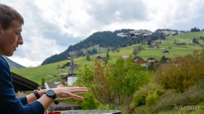 Управлять дроном с помощью жестов помогут пьезоволокона (видео)