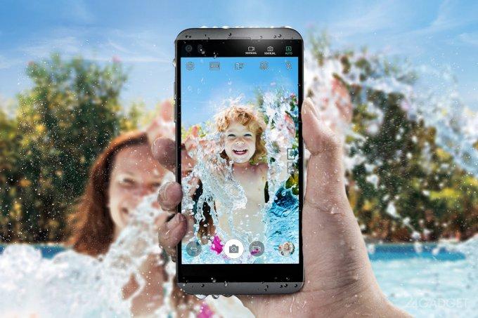LG Q8: музыкальный водонепроницаемый смартфон с двумя дисплеями