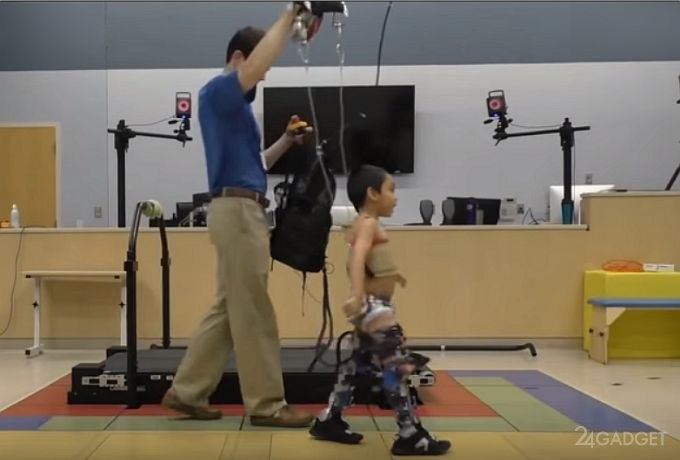 Экзоскелет для самостоятельного передвижения детей с ДЦП (видео)