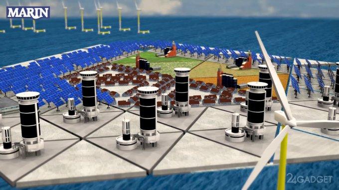 Испытан искусственный плавучий остров (видео)