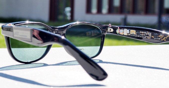 Очки с солнечными панелями в роли линз