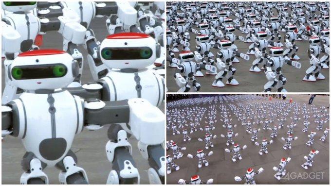 Танцующие роботы установили новый мировой рекорд (видео)