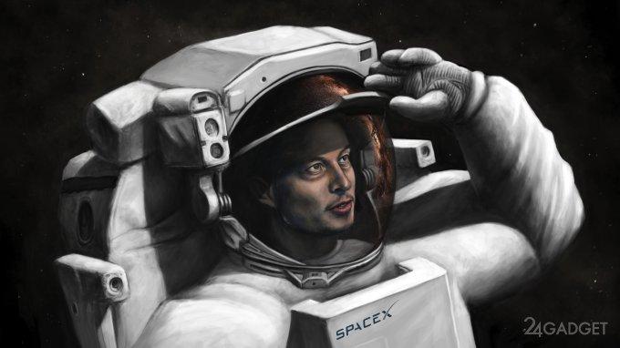 Илон Маск показал фирменный скафандр SpaceX (2 фото)