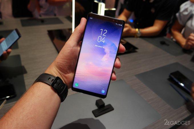 Эксперты признали экран Galaxy Note 8 лучшим среди смартфонов (видео)