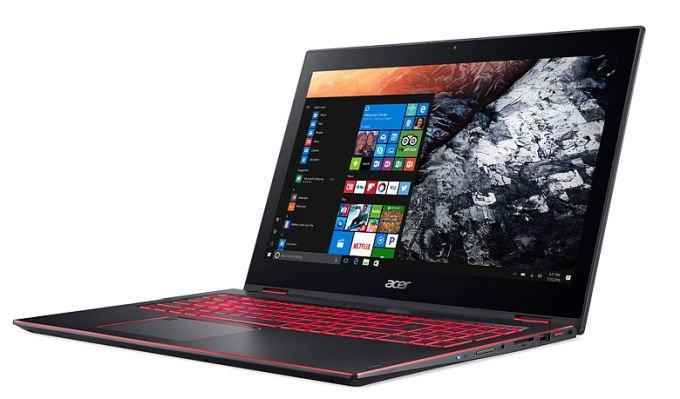 Ноутбук-трансформер Acer Nitro 5 Spin на базе Intel Core 8-го поколения (5 фото)