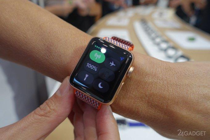 Зарядки новых Apple Watch хватит на час разговора в режиме LTE