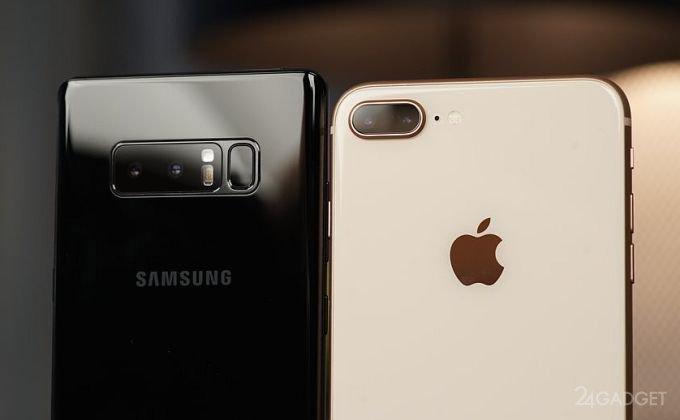 Флагманы Apple и Samsung сразились в битве камер