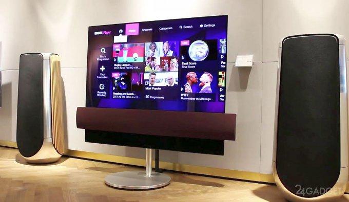 Телевизор от LG и Bang & Olufsen бесшумно передвигается по дому (9 фото + 2 видео)
