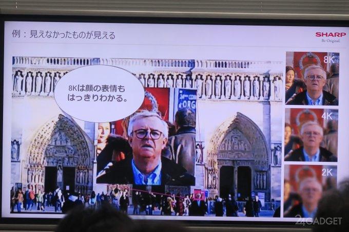 Телевизор с разрешением 8K от Sharp (5 фото + видео)