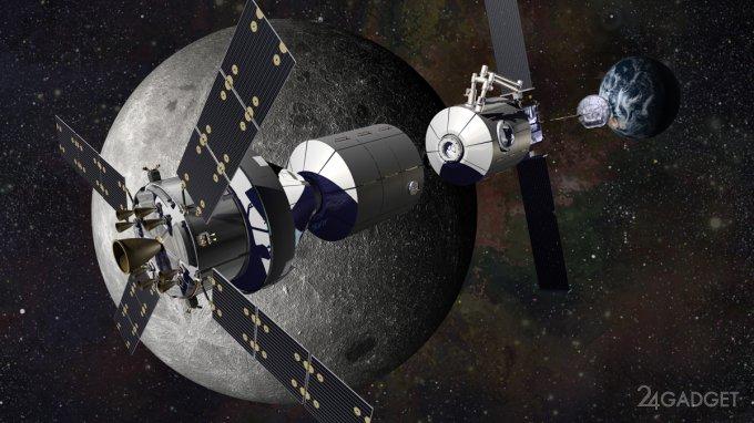 Космические агентства США и России создадут окололунную орбитальную станцию
