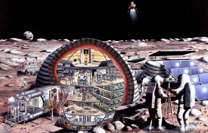 В «Лунной деревне» будет проживать не одна сотня человек (3 фото + видео)
