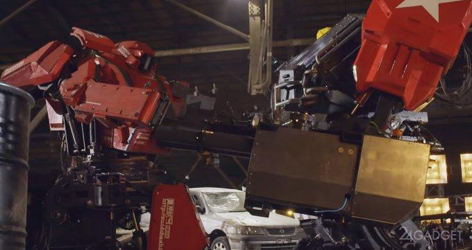 Состоялась трансляция боя американского и японского роботов-гигантов