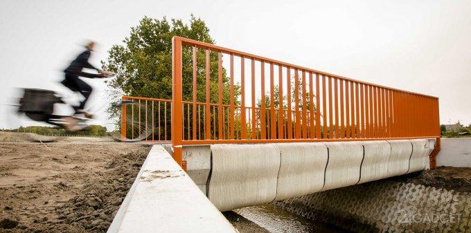 В Голландии установили первый 3D-печатный мост (7 фото + видео)