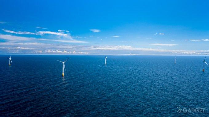В Шотландии заработала первая в мире плавучая ветроэлектростанция (видео)