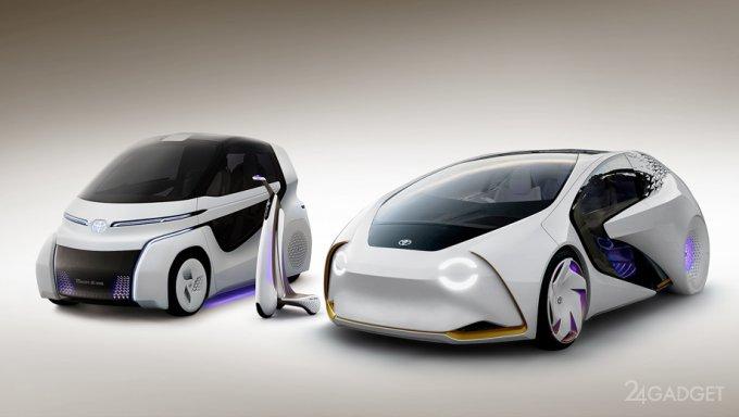 Toyota расширила линейку необычных транспортных средств Concept-i (15 фото + видео)