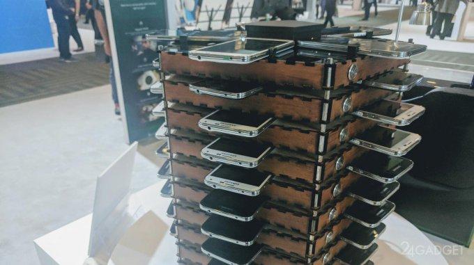 В Samsung из старых смартфонов сделали ферму для майнинга (4 фото)