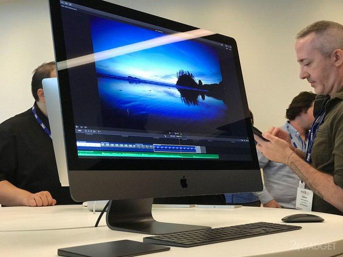 Новый Apple iMac Pro показали в действии