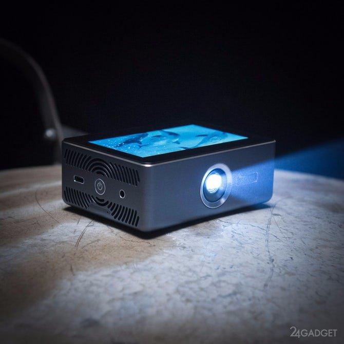 Карманный Android-проектор с сенсорным дисплеем (6 фото + видео)