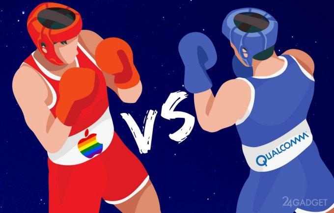 Apple решила отказаться от комплектующих Qualcomm