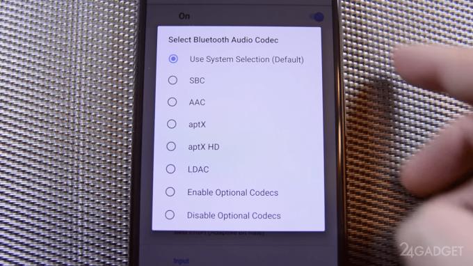 В Android 8.0 Oreo реализована поддержка аудиокодека AAC для Bluetooth