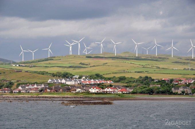 К 2020 году Шотландия полностью перейдёт на возобновляемую энергию