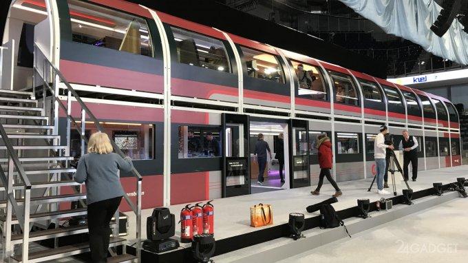В Германии показан поезд, достойный прогрессивному времени