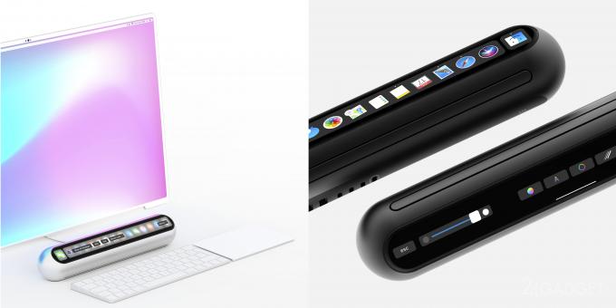 Концептуальный настольный ПК от Apple с Touch Bar и Face ID (11 фото)