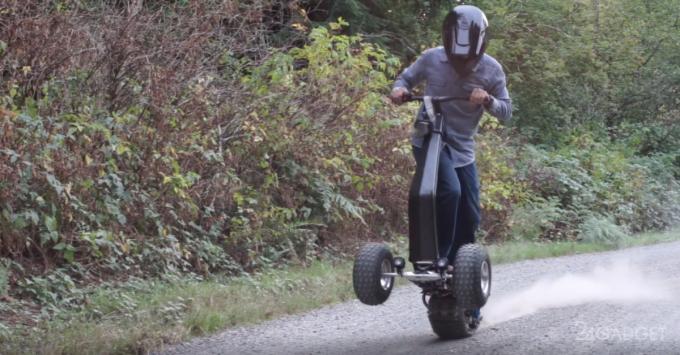 Электрический скейтборд для бездорожья и ненастья (13 фото + видео)