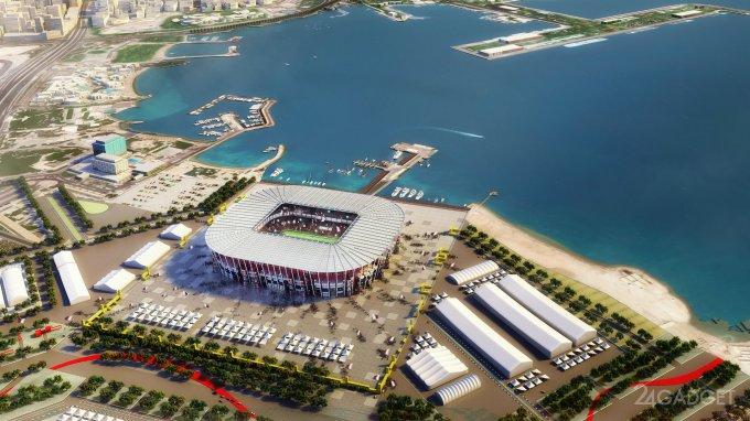 В Катаре построят разборный стадион из контейнеров