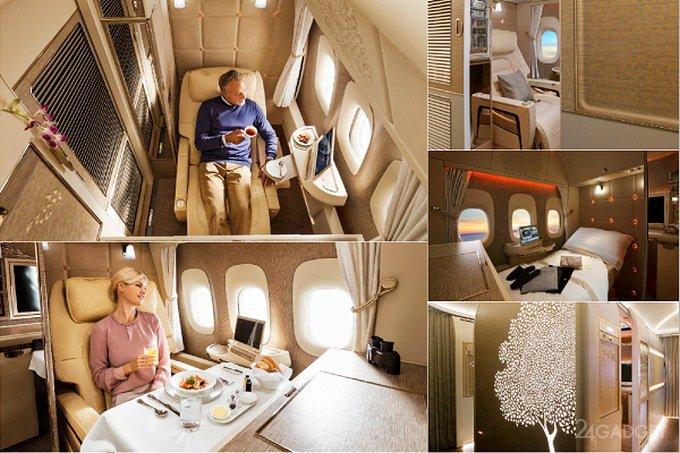 В самолётах Emirates появились капсулы с «нулевой гравитацией» (4 фото + 2 видео)