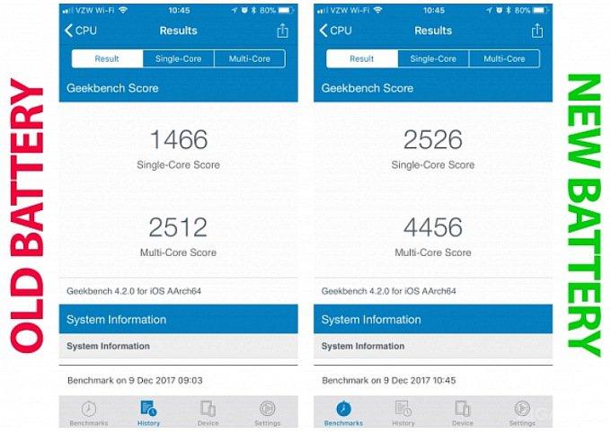 Apple всё таки замедляет работу старых iPhone (2 фото)