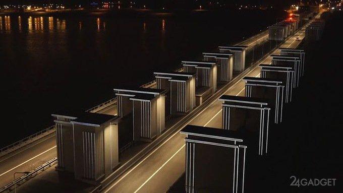 В Нидерландах осветили дорогу без применения электричества (видео)