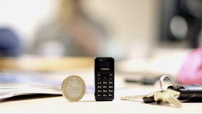 Zanco tiny t1 — самый маленький сотовый телефон (11 фото + видео)