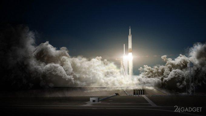 Falcon Heavy полетит к Марсу с электрокаром Tesla Roadster на борту