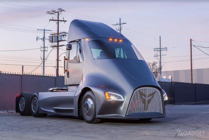 У электрогрузовика Tesla Semi появится конкурент ET-One (7 фото + видео)