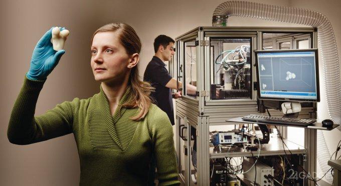 Отпечатанный керамоимплант становится частью травмированной кости