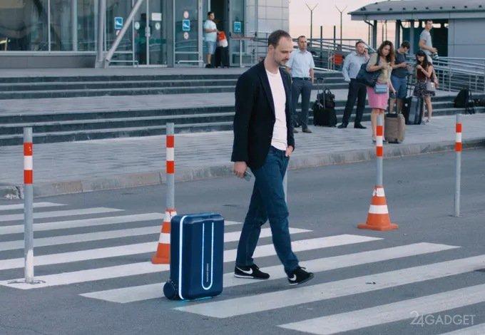 Самодвижущийся чемодан Travelmate (4 фото + 2 видео)