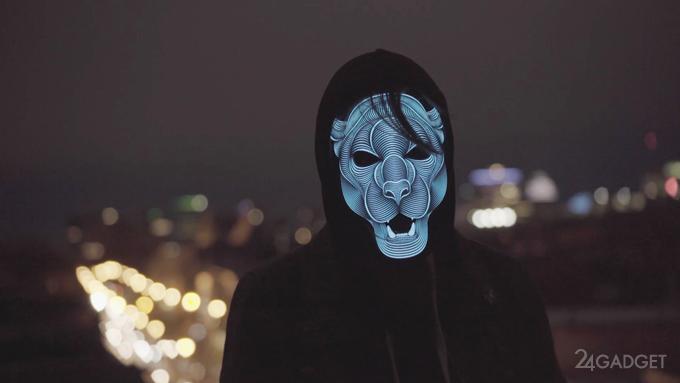 Потрясающая маска, светящаяся в такт музыке (9 фото + видео)