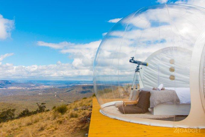 В отеле-пузыре можно жить где угодно (28 фото)