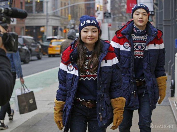 Олимпийских спортсменов из США одели в «умные» куртки (7 фото + 2 видео)