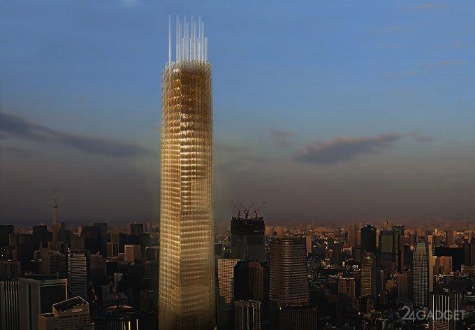 Новый 70-этажный небоскреб в Токио построят из дерева
