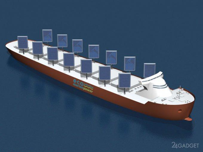 Грузовые судна вновь оснастят парусами, но солнечными (5 фото)