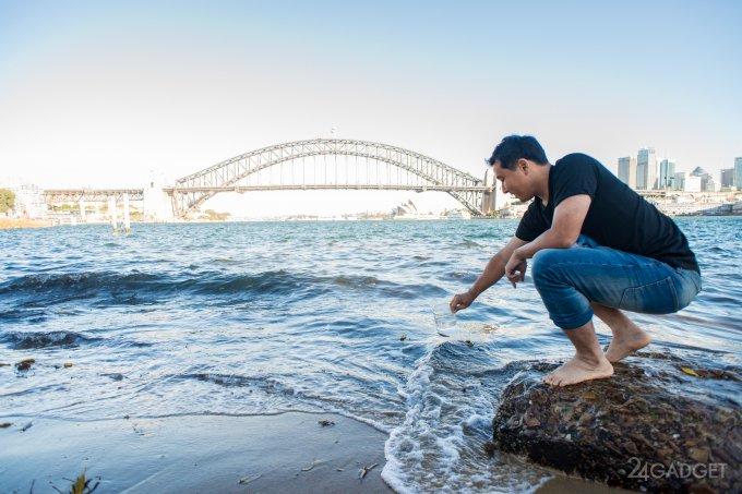 В Австралии разработали систему фильтрации и опреснения воды на основе графена (3 фото + видео)