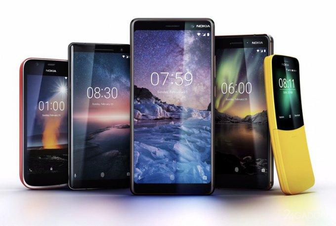 Nokia анонсировала необычайно пёстрые смартфоны