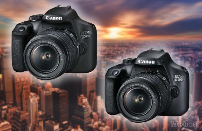 EOS 2000D и EOS 4000D — новые зеркальные камеры от Canon (8 фото)