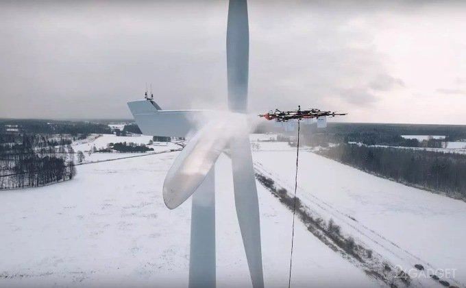 Дронам нашли применение в ветроэнергетике