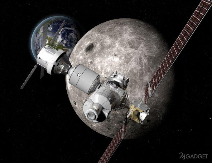 У лунного аналога МКС будет необычная траектория движения (2 фото)
