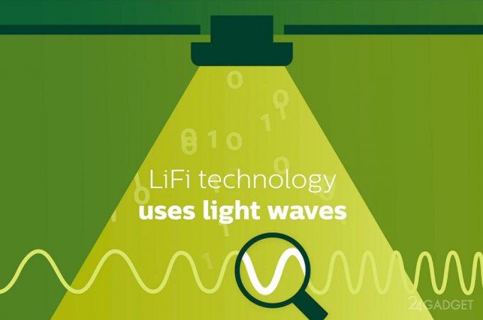 Philips тестирует технологию Li-Fi, аналогичную Wi-Fi (2 фото + видео)