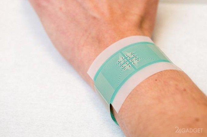 Электронный пластырь неинвазивно измеряет уровня сахара в крови
