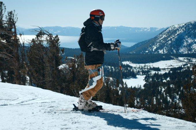 Экзоскелет убережёт лыжника от травм